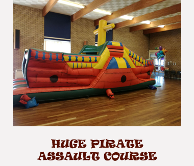 Pirate ship Inflatable Assault Course Hire