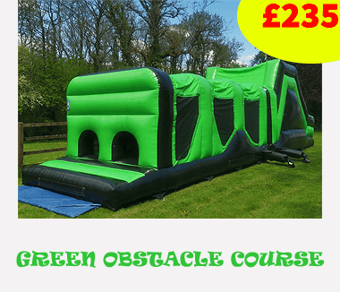 Green giant Inflatable Assault Course Hire