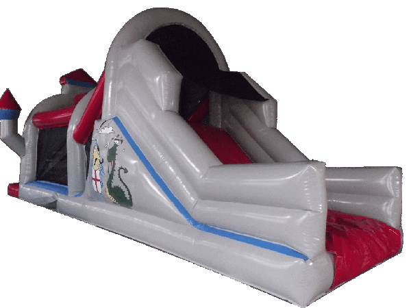 knight dragon obstaclecourse inflatable