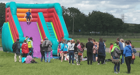 large event slide wales